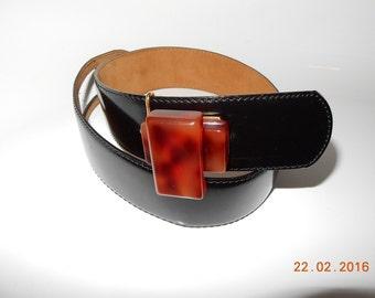 Rare MOSCHINO Redwall Belt with Bakelite Buckle