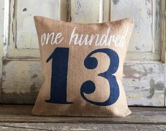 Burlap Pillow- House Numbers pillow | Address pillow | Front Porch pillow | | Personalized pillow | Realtor Gift | Housewarming Gift