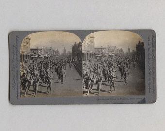 Keystone View Company Stereoview British Troups in Pretoria South Africa