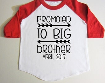 Pregnancy Announcement Big brother shirt Personalized Gift RAGLAN T-shirt for boys pregnancy announcement Arrow Birthday gift New baby Gift