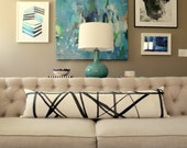 Kelly Wearstler Channels Ebony / Ivory LUMBAR designer pillow cover - Choose Your Size