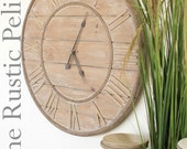 Reclaimed wood Wall Clock -Large Wall Clock -Farmhouse Decor -Rustic Decor -Farmhouse - Vintage style Clock -Rustic Wall Clock -Pallet Wood