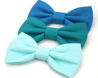 Seafoam Teal Green Blue Dog Bow Tie Cat Bow Tie Pet Wedding Bowtie