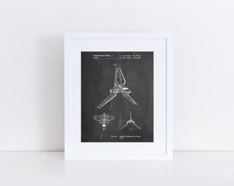 Star Wars Lambda Class T-4a Shuttle Patent Poster, Empire Strikes Back, Starwars Art, Movie Wall, Star Wars Ships, Star Wars Gift, PP0449