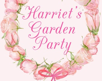 Summer Rose Garden Invitation - Personalised for you. DIGITAL DOWNLOAD ONLY