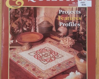 Australian Patchwork & Quilting Vol 3 no 4 magazine back issue Celtic Knots, Cathedral Windows, Australian Waggas, Applique