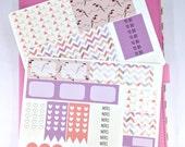 Pastel Bird ECLP Weekly Kit; Erin Condren Vertical; Vinyl Planner Stickers; Geometric Stickers; Summer Planning Kit; Summer Stickers