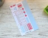 Winter Personal Weekly Kit; Filofax; Kikki K; Personal Planner; Checklist Stickers, Punched Sticker Sheet; Christmas Kit; Snowflake