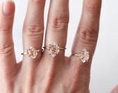 Herkimer Diamond Ring in Rose Gold