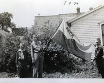Vintage Photo..Boy Scout Pack 111 1944, Original Photo, Old Photo Snapshot, Vernacular Photography, American Social History Photo