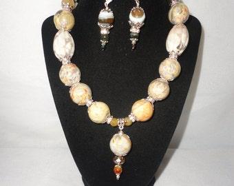 Flawless Lace Agate Feldspar Necklace Set*****.