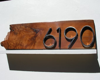 Diamond House Numbers Plaque Mid Century Address Sign