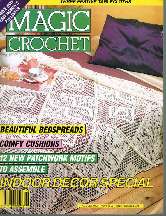 Crochet Magazines List : Magic Crochet Magazine - Doily Crochet Patterns - Beadspread Crochet ...