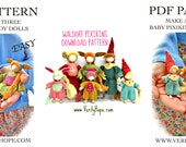 Waldorf inspired doll making sewing pattern and tutorial / pdf / Permission to sell in your Etsy shop