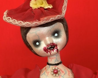 Connie Fusion is a OOAK vampire art doll