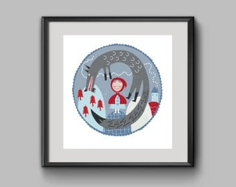 Little red riding hood limited edition print