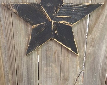 Small Rustic Reclaimed Wood Star Wall Hanging