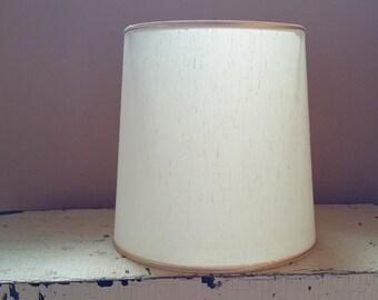 White Drum Shape 12 Inch  Lampshade Fiberglass Lamp Shade