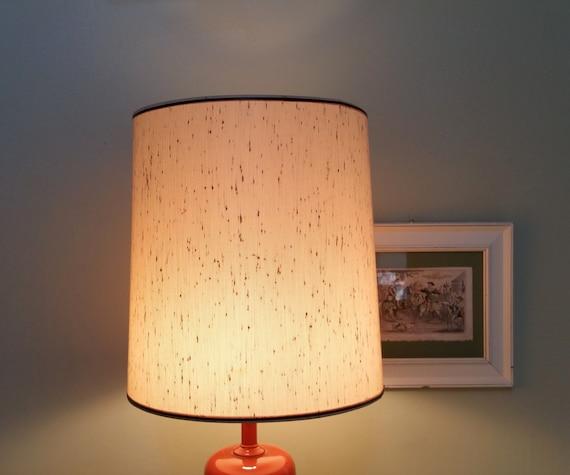 Beige drum shape 15 inch lampshade fiberglass lamp shade for Drum shaped lamp shades