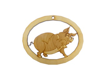 Pig Ornament - Pig Christmas Ornament - Pig Gift Topper - Pig Decor - Pig Ornaments -  Farm Animal Ornaments - Personalized Free