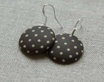 ceramic earrings with dots