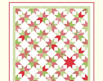 MERRY CHRISTMAS DARLING Cotton Way Quilt Pattern by Bonnie Olaveson of Bonnie & Camille