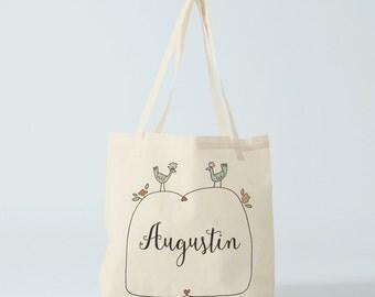 Custom Tote Bag, name of your choice, birth gift, canvas bag name, custom tote bag, name groceries bag, custom baby bag.