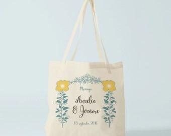 Tote bag personnalisé avec le prénom de votre choix, sac en toile, sac fourre tout, sac de courses, sac personnalisable, tote bag prénom.