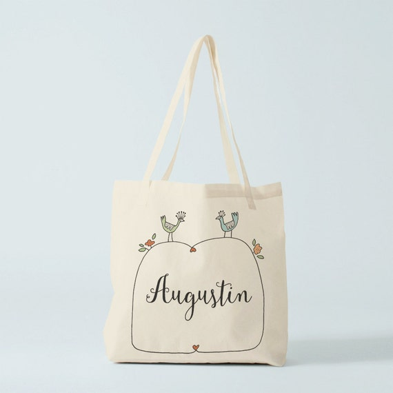 Custom Tote Bag, name of your choice, birth gift, canvas bag name, custom tote bag, name groceries bag, custom baby bag.
