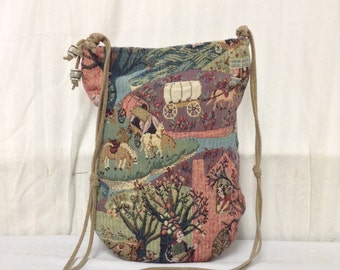 Tapestry Purse, English Scene,purse,bag, Shoulder Bag, Free shipping in the US
