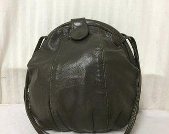 Gray leather purse,bags ,purses, shoulder bag