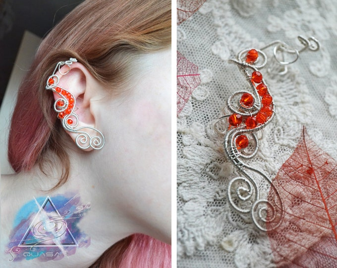 "Ear cuff ""flames"" 