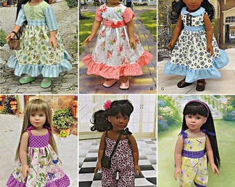 """Doll Clothes 18"""" Vintage Inspired Simplicity 8070/S0667"""