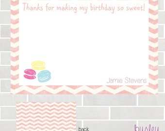 Cupcake Birthday, Cupcake Thank You Card, Cupcake Birthday Thank You, Cupcake Party Thank You *NEW STORE discount