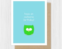 Funny Birthday Card For Friend Her Him Fun Happy Bday Cute Owl Pun Handmade Greeting Cards Gifts Gift Ideas Sister Brother Niece Nephew