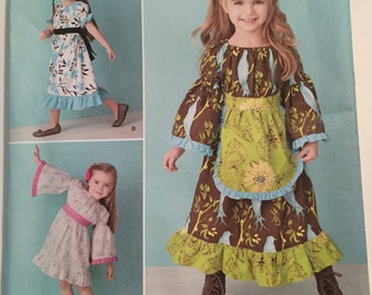 Toddlers and Child's Dress Sizes 4, 5, 6, 7, 8 FF UNCUT  Simplicty 1595 BB