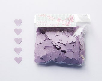 1000 Lilac Heart Confetti for parties and wedding decoration. Die cut hearts - Baby shower - Lavender hearts - Wedding confetti - Lilac