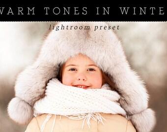 Warm Tones in Winter Lightroom Preset - Single Preset - Adobe Lightroom Preset for 4, 5, 6 and CC - Portrait, Landscape