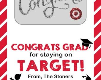 Printable Target-Inspired Graduate Gift Card Tag