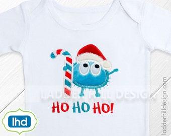 Christmas Applique Design -- Ooga Booga Christmas Applique -- Candy Cane Santa -- Christmas Applique Design obc2014-001