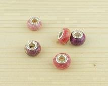 Red Pandora beads•REDS assorted beads•Pandora bracelet bead• Pandora beads•Pandora red bead•Pandora charms•Pink pandora charm