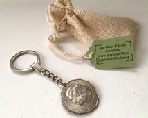 1981 Aussie keyring, 35th birthday, wedding anniversary, lady Di, prince Charles wedding coin, Australia, British Royal, Australian coin.