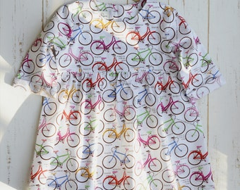 Bicycle Girls Dress Bottom Frill Long Sleeve