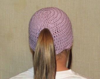 Pontytail Hat, Runners Hat, Ponytail Beanie, Crochet Ponytail hat, Crochet Ponytail Beanie, Crochet Hat, Knit Ponytail Hat,