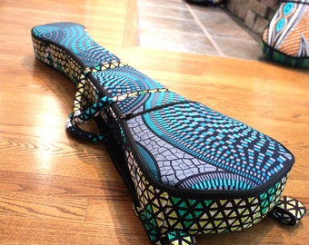 Made-to-order Martin Backpacker Guitar Gig bag/case, Thick Foam Padding, VLISCO fabrics, backpack straps and handle