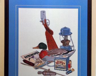 Duck Days By Bill Granstaff Vintage Cross Stitch Pattern Leaflet 1990