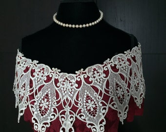 Victorian lace off the shoulder gown