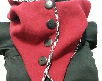 Red cowl and hood