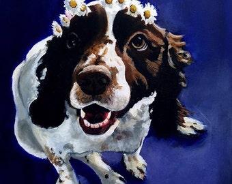 Custom Pet Portaits Acrylic Painting