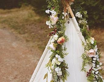 Flower garland Etsy